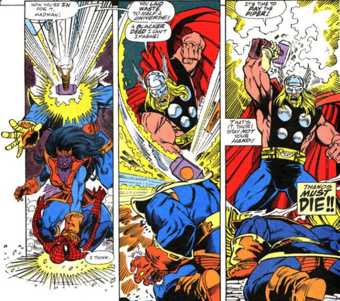Thor Vs Thanos - Battles - Comic Vine